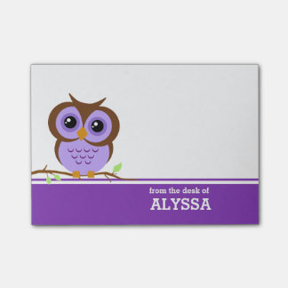 Purple Owl Personalised Post-it® Notes