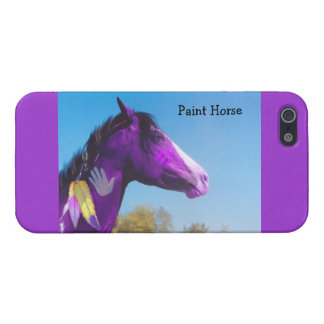 Purple Paint Horse War Pony iPhone 5 Case
