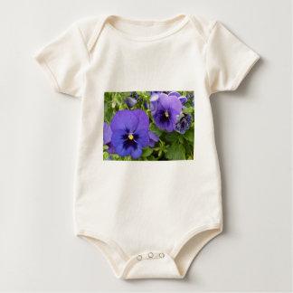 Purple Pansies Baby Bodysuit