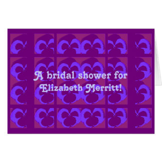 Purple Pansies Bridal Shower Invite