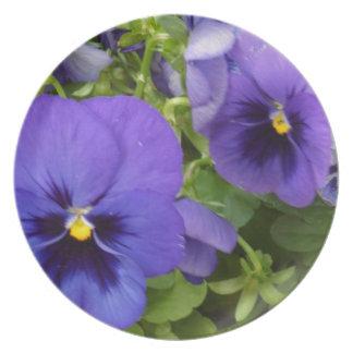 Purple Pansies Plate
