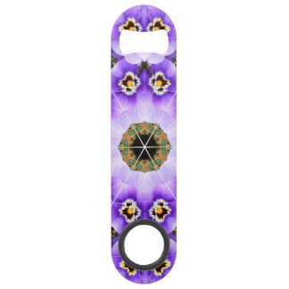 Purple Pansy Speed Bottle Opener