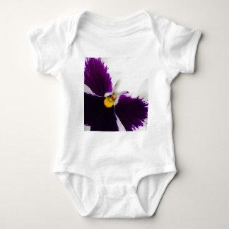Purple pansys baby bodysuit