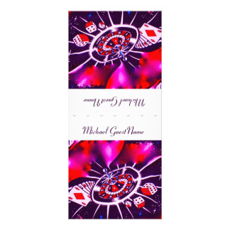 Purple Passion Name Place Setting Rack Card Template