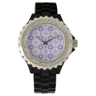 purple pattern wristwatch