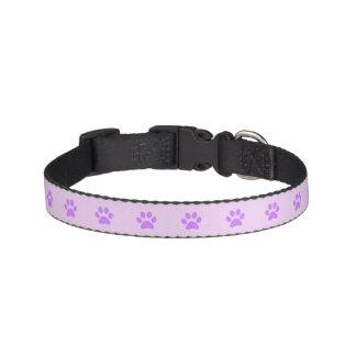 Purple Paw Print Dog Collar