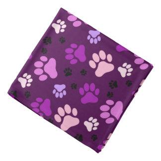 Purple Paw Prints | Dog Bandannas