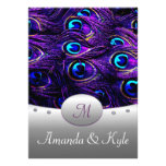 "Purple Peacock Wedding Invitations 4.5"" x 6.25"""