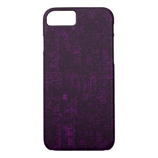 Purple Phantom Circuit Board Schematic iPhone 8/7 Case