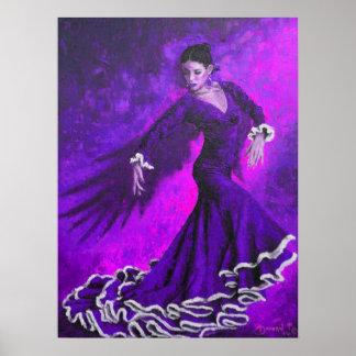 Purple Phoenix Poster