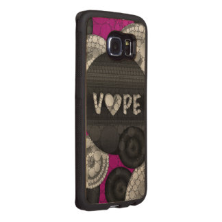 Purple Pink Black 3D Vape Heart Wood Phone Case