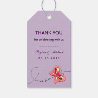 Wedding Gift Tags Nz : Purple Pink Butterfly Wedding Party Favor Gift Tag