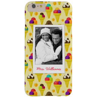 Purple & Pink Ice Cream Cones | Add Your Photo Barely There iPhone 6 Plus Case