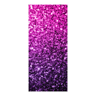 Purple Pink Ombre glitter sparkles Rack Card