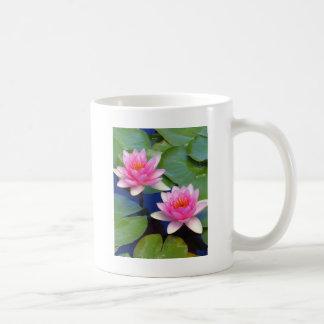 Purple Pink Pond Lillies Coffee Mug