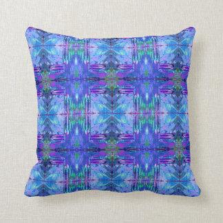 Purple, pink, violet Aztec geometric pattern Cushion