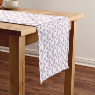 Purple Pinwheels Short Table Runner