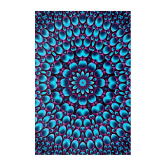 Purple Piper Kaleidoscope   Acrylic Wall Art