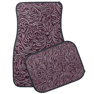 Purple Plum Vintage Tin Tile Look Rustic Floor Mat