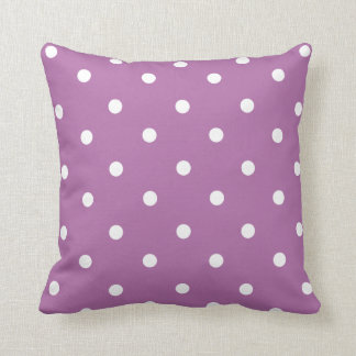 Purple Polka Dot Home Decor Throw Pillow