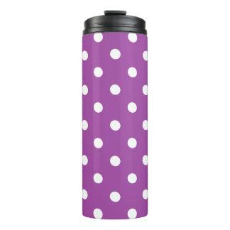 Purple Polka Dot Thermal Tumbler