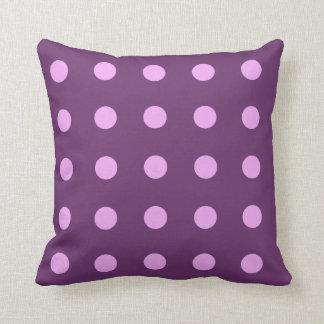 Purple Polka Dots Throw Pillows