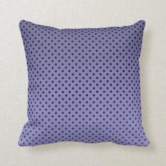 Purple Polka Dots Throw Pillow