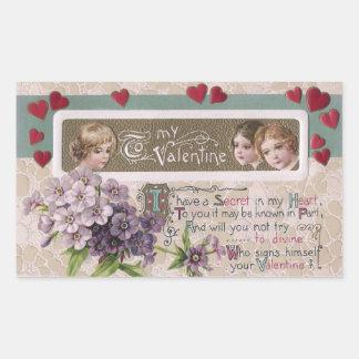 Purple Posy Secret Valentine Stickers