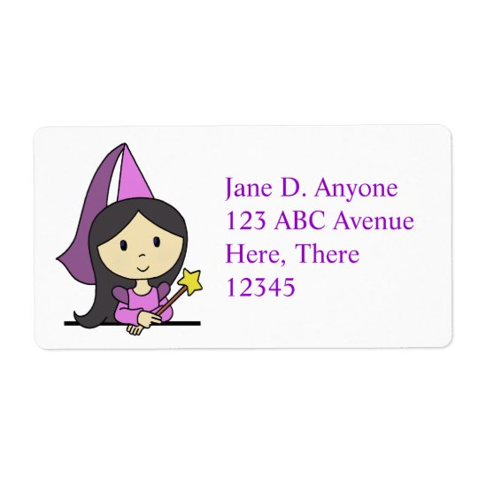 Purple Princess Label Shipping Label