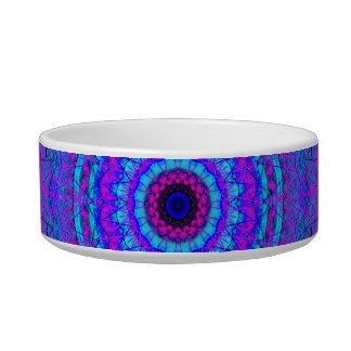 Purple Psyche Mandala kaleidoscope pet bowl