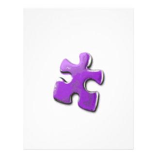 Purple Puzzle! A design also for Autism Awareness 21.5 Cm X 28 Cm Flyer