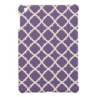 Purple Quatrefoil iPad Mini Case