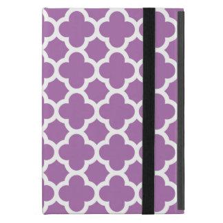 Purple Quatrefoil Trellis Pattern Cover For iPad Mini