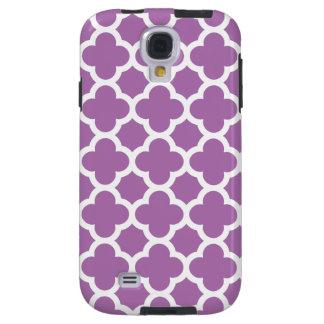 Purple Quatrefoil Trellis Pattern Galaxy S4 Case