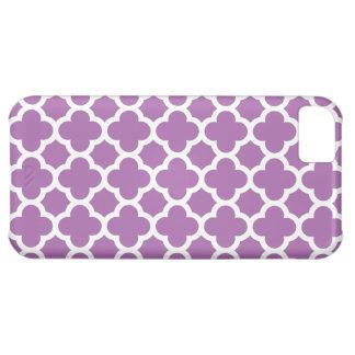 Purple Quatrefoil Trellis Pattern iPhone 5C Case