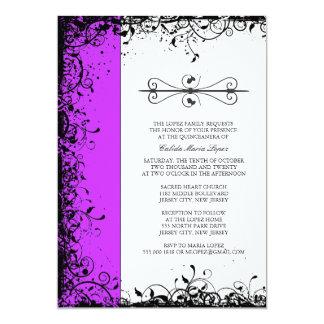 Purple Quinceanera Invitations