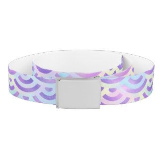 Purple Rainbow Mermaid Pastel Pattern Belt