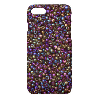 Purple Rainbow Rocaille Seed Beads iPhone 7 Case