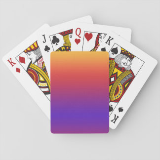 Purple Red Orange Gradient Stripes Playing Cards