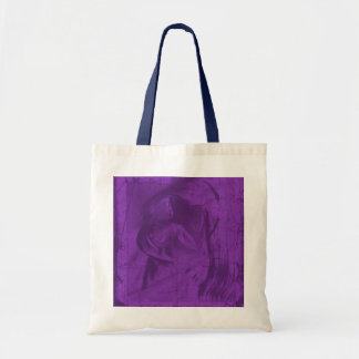 Purple Reflections In Natural And Navy Tote Bags