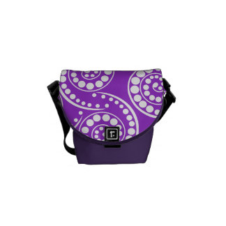 Purple retro modern pattern courier bag