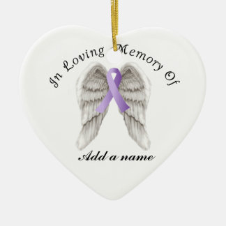 Purple Ribbon All Cancer In Memorial Ornament