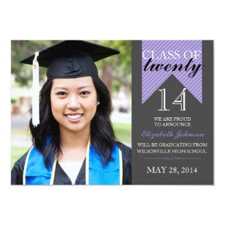 Purple Ribbon Class 2014 Graduation Announcements