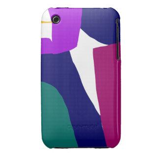 Purple Ribbon Orange Star Dark Night iPhone 3 Cases