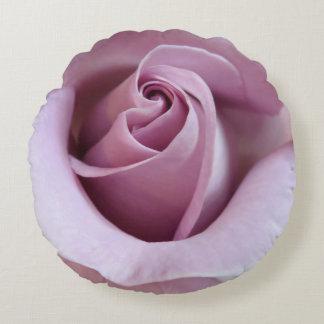 Purple Rose Wedding Photo Round Cushion
