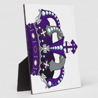 Purple Royal Crown Plaque