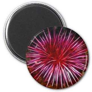 Purple Sea Urchin 6 Cm Round Magnet