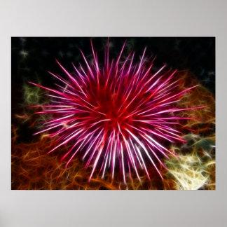 Purple Sea Urchin Poster