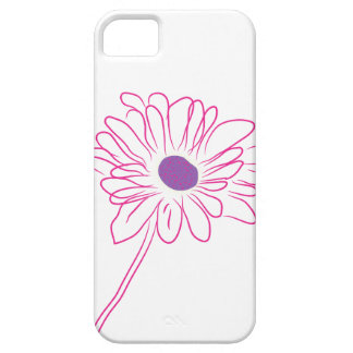 Purple Sketched Flower iPhone 5 Cover