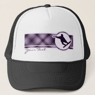 Purple Snowboarding Trucker Hat